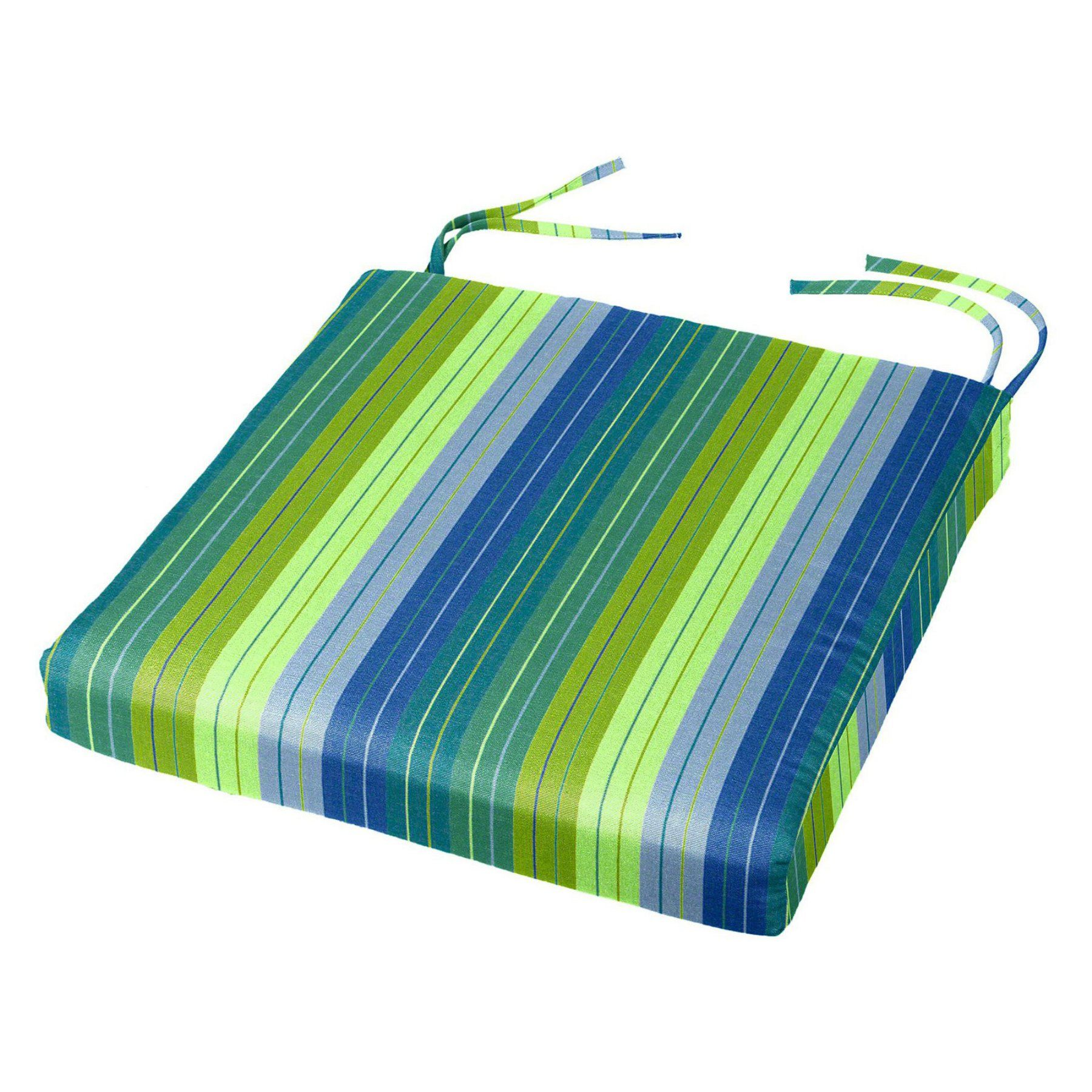 Cushion Source 17.5 X 16 In. Striped Sunbrella Chair Pad   CFWGN 5606