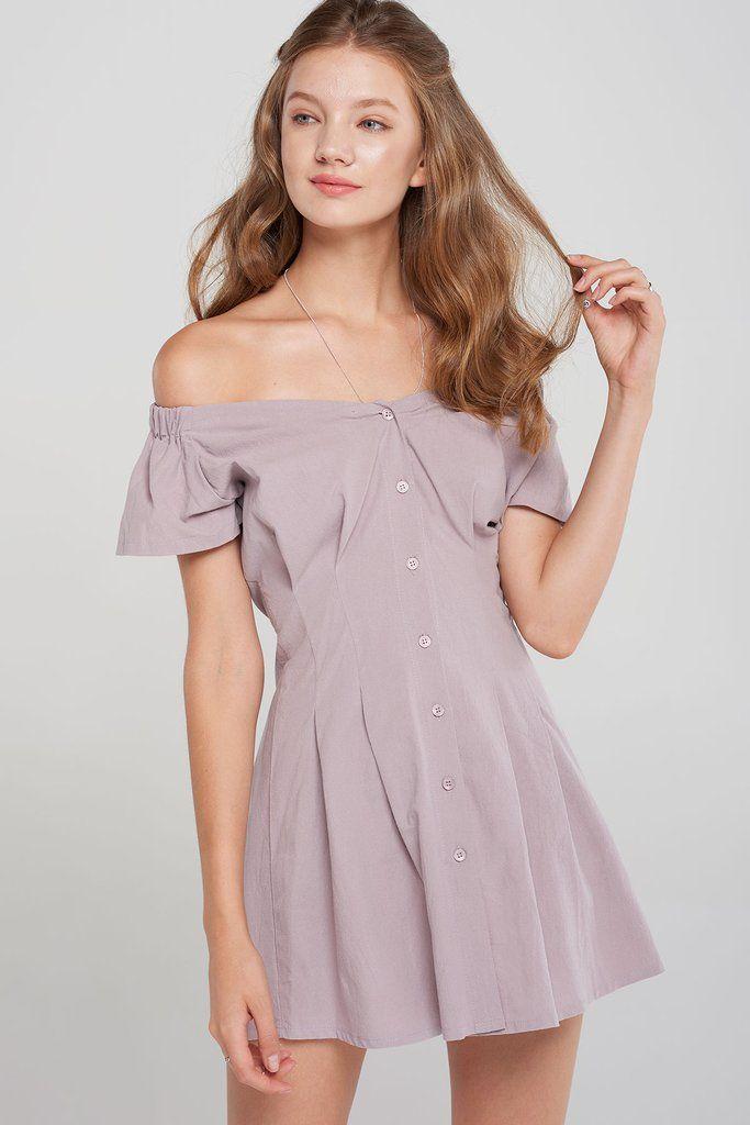 Zora Off The Shoulder Dress 2 Colors Pre Order Discover