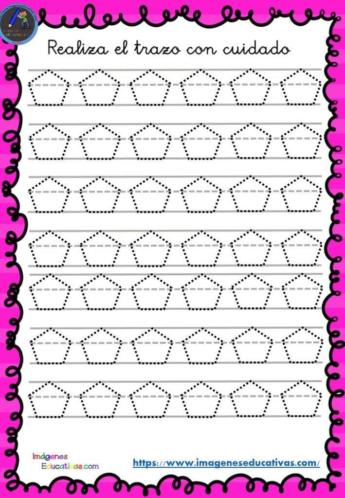Fichas de preescritura y perfeccionamiento de caligrafía (13) - Imagenes Educativas