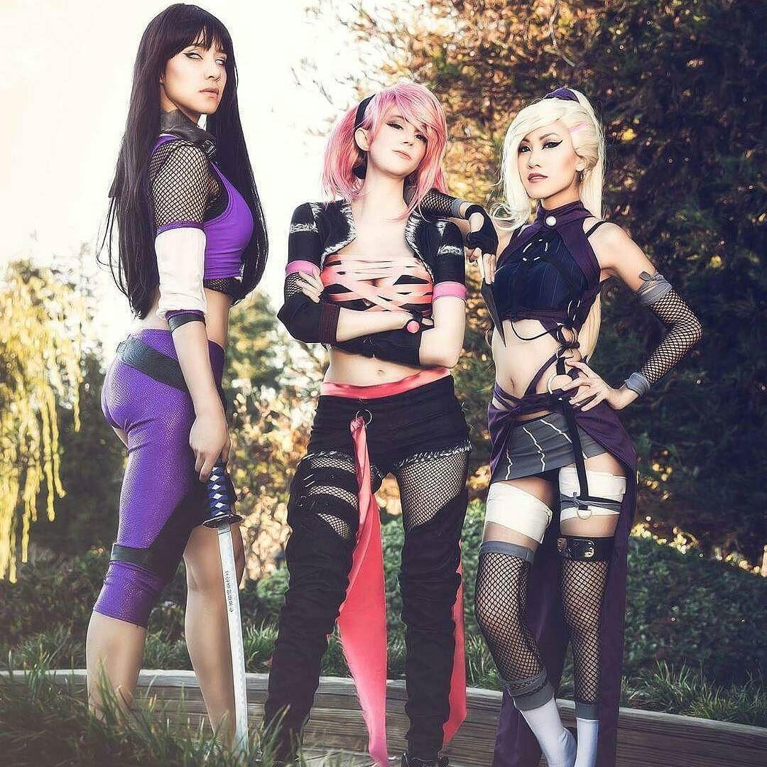 @sushimonstuh as Ino, @milynnsarley as Hinata, @sheenaduquette as Sakura /Photographer: @saffelsphotography