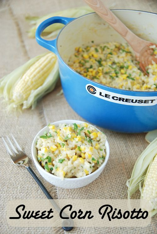 Sweet Corn Risotto by @The Novice Chef Blog {Jessica} --- Made this tonight and it was DELISH!