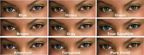 Real Eye Color Chart Choosing A Coloured Contact Lens Rare