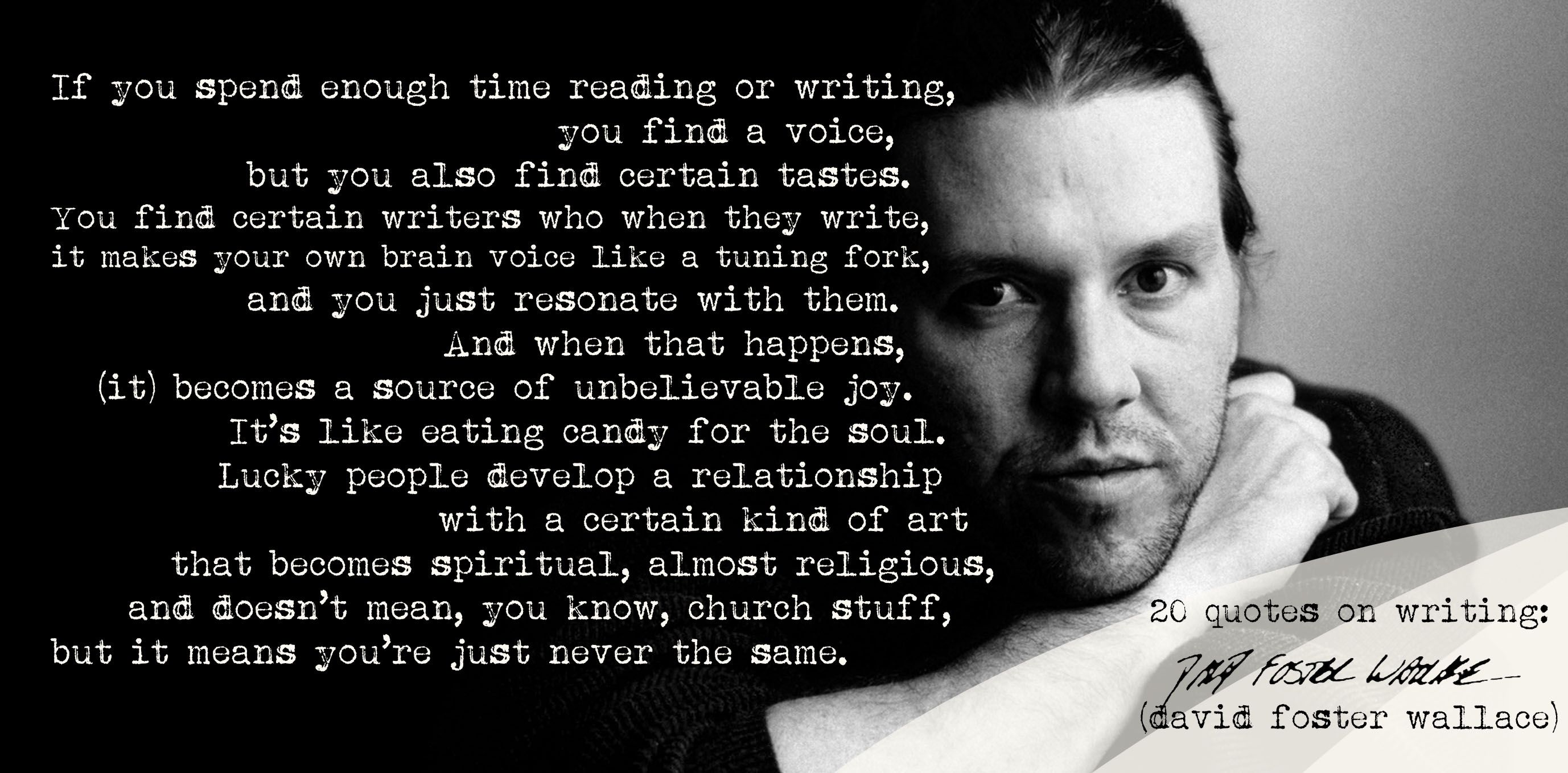 David Foster Wallace Searches For >> Preview Of Wes Books Video Essay Books And Gifts For The