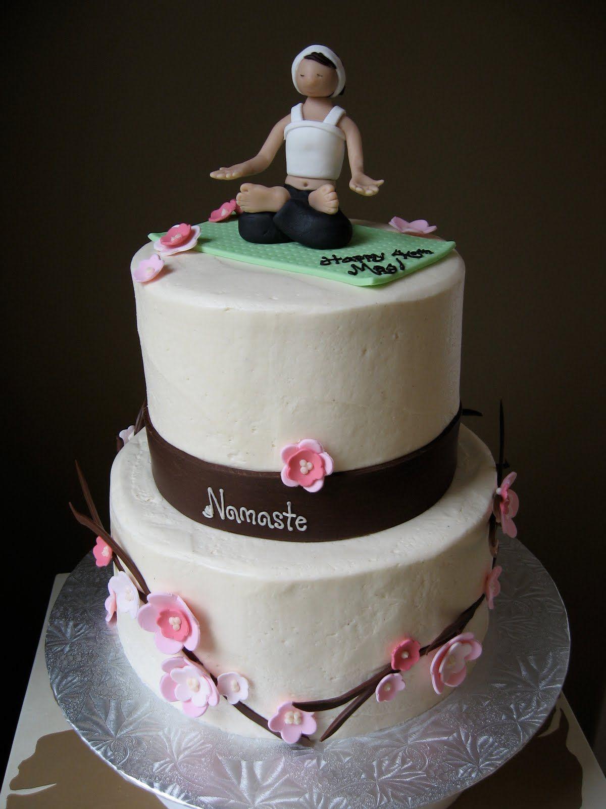Sweetiecakes Vanilla Chai Yoga Cake Yoga Party Theme Pinterest