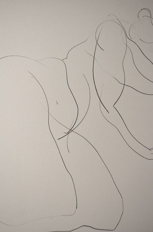 Drawing by Carmel Jenkin, Lying Nude, charcoal on paper, 81cm x 57cm just lines Facebook Page This piece will be available for purchase on Daily Painters July 15th.