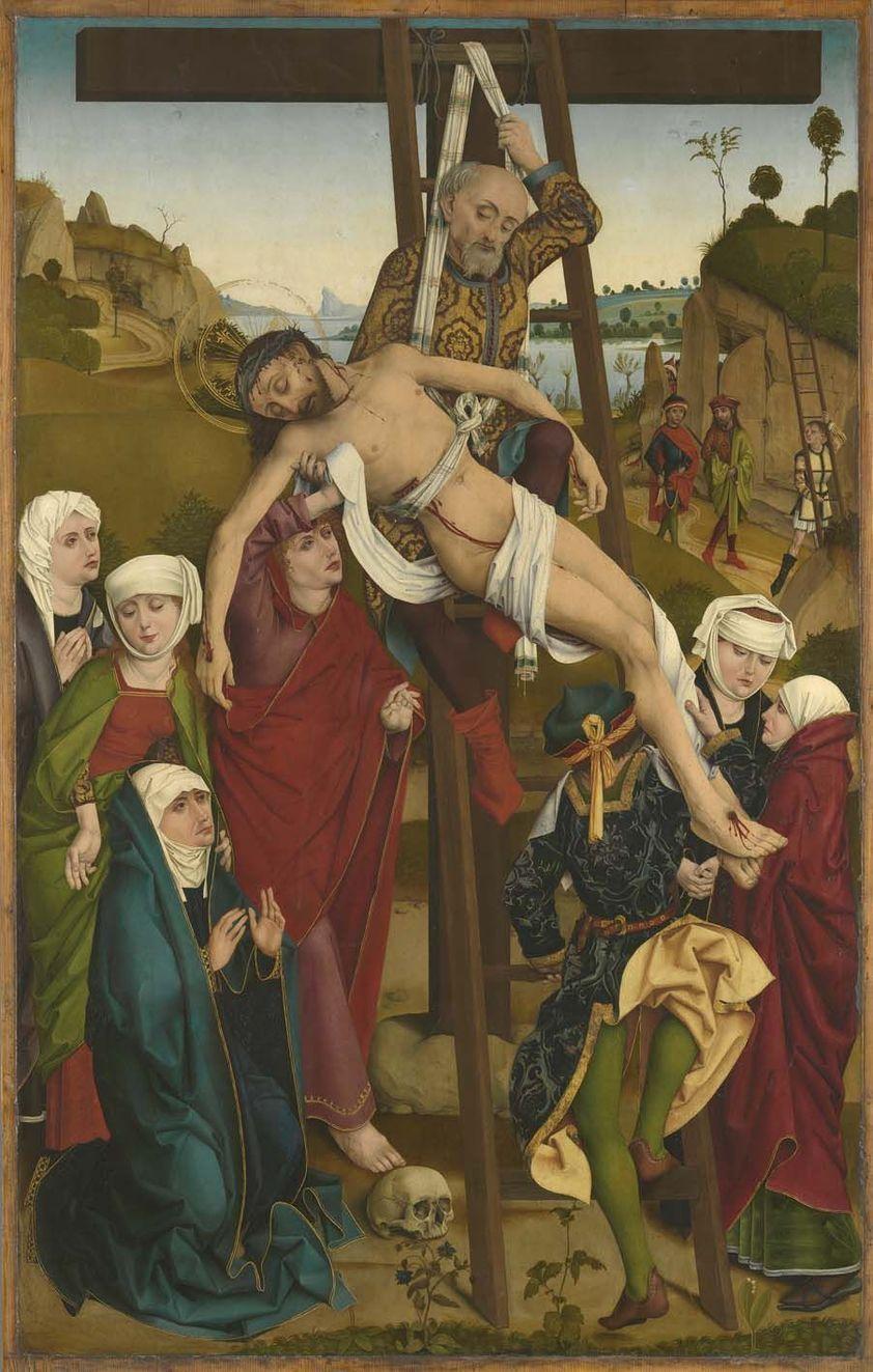 The Descent From The Cross El Descendimiento De La Cruz Hofer Altarpiece 1465 Hans Pleydenwurff Alte Art Religieux Image Biblique Chemin De Croix