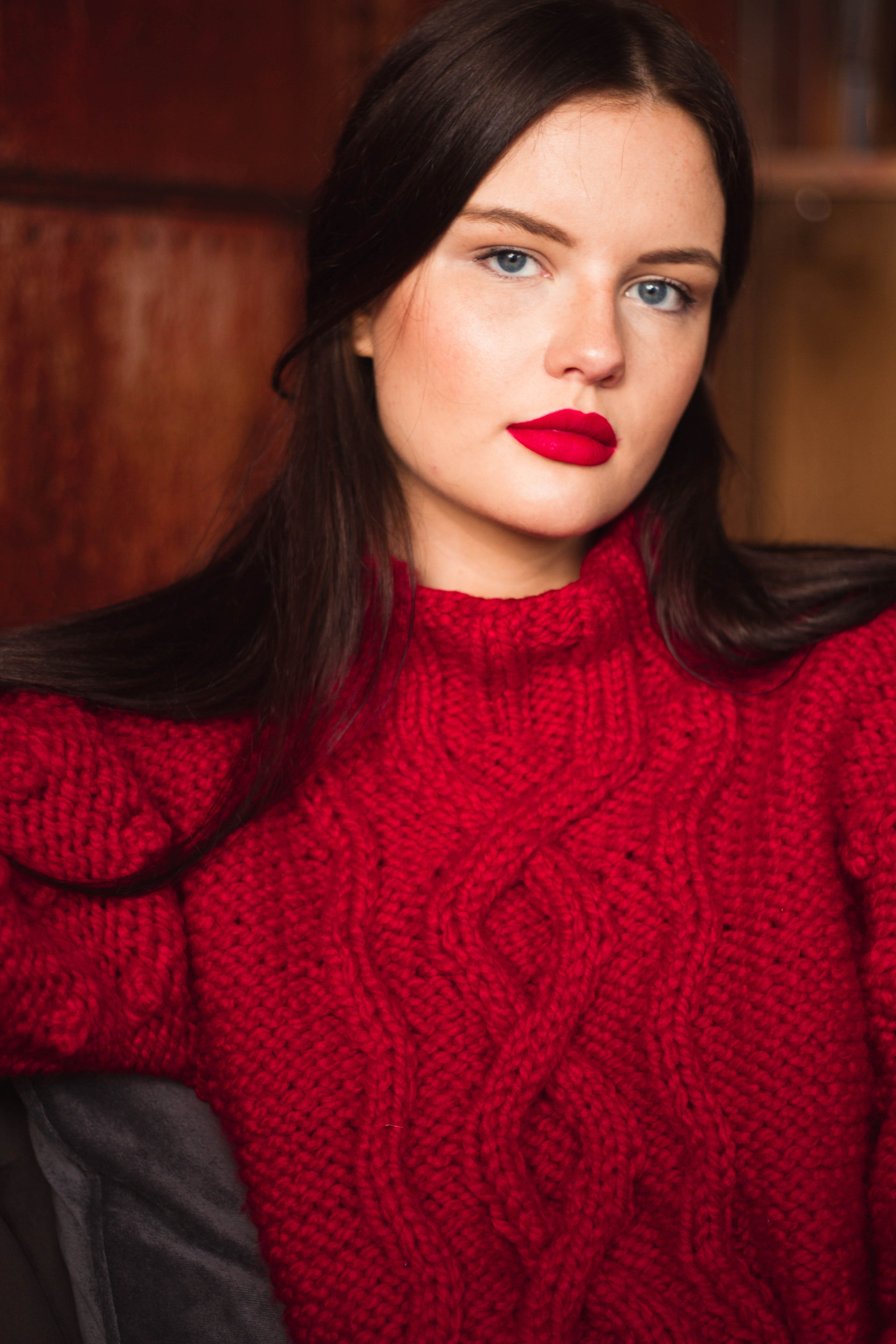 The Big Red Jumper Handknit Super Chunky Sweater From Debbie