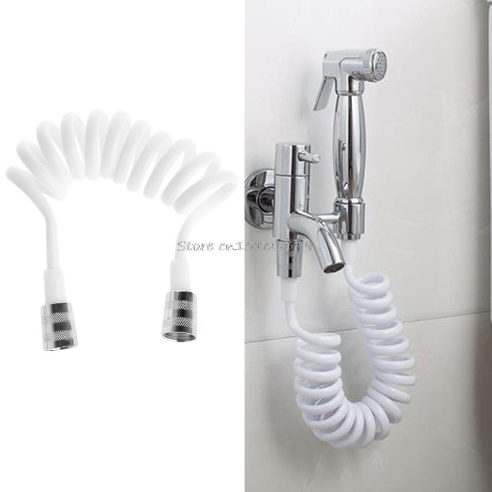 Free Shipping Chrome Finish Wall Mounted Copper Toilet Bidets Faucet Shower Set Brass Nut Elastic Shower Hose Bidets & Bidet Parts
