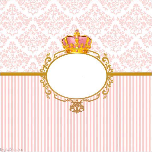 Kit digital corona de princesas para descargar gratis - Modelos de coronas ...