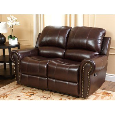 Excellent Darby Home Co Barnsdale Leather Reclining Loveseat Machost Co Dining Chair Design Ideas Machostcouk