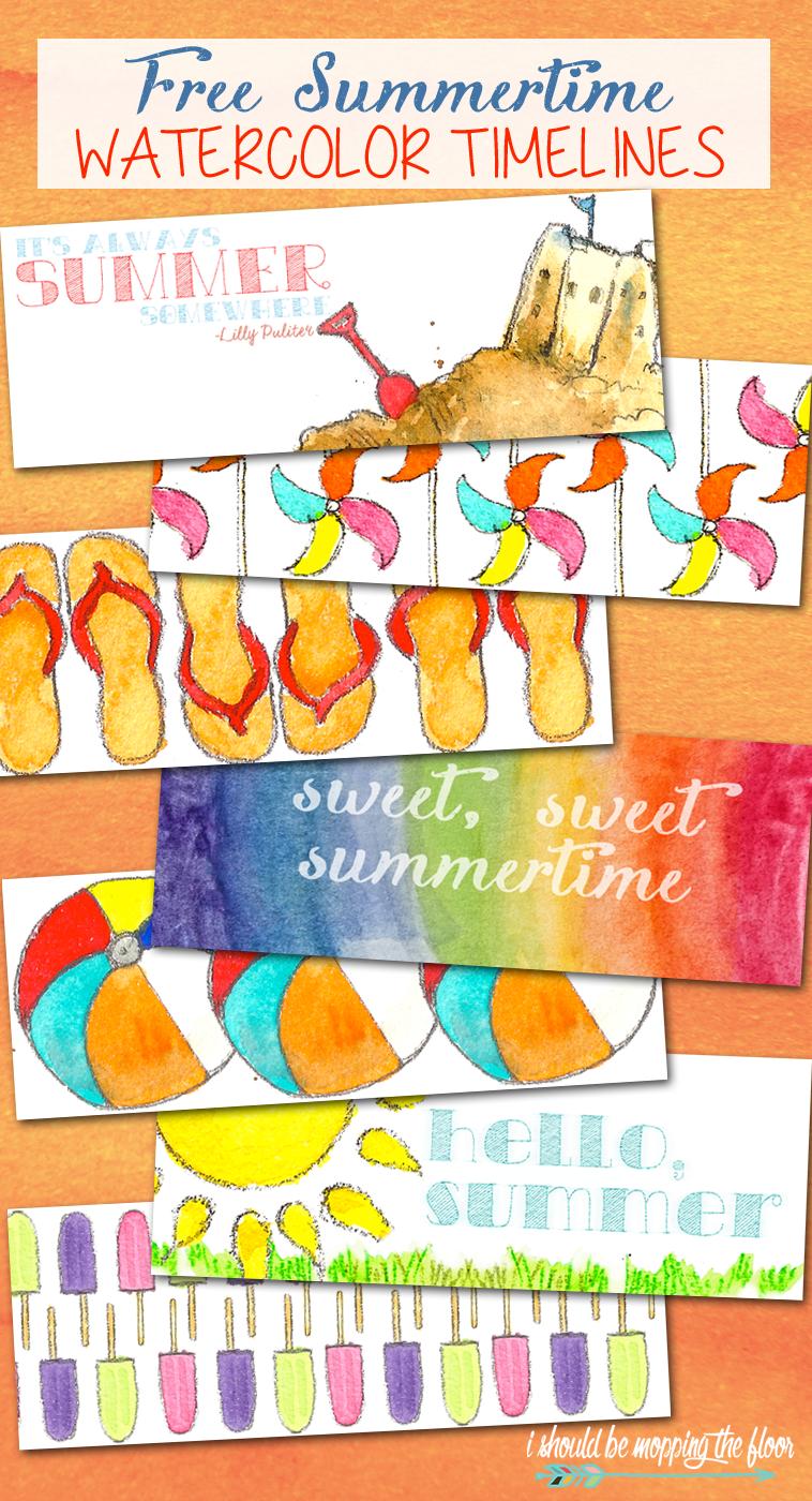 Free Summertime Watercolor Facebook Timelines Free Facebook