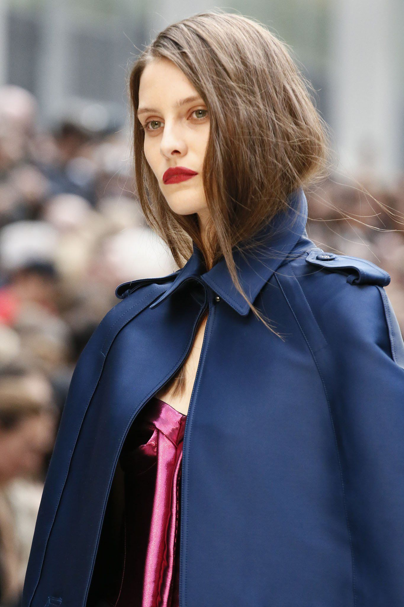 02af3909a1ff Windy Day Hair Solutions - A number of clever wind-blown hair ideas have  sprung forth on the Burberry runway