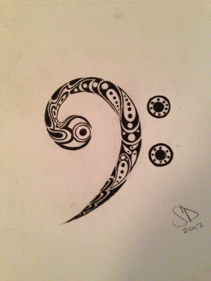 bass clef tattoo 2 tattoo pinterest clef pinterest clef rh pinterest ca bass clef tattoo designs Bass Clef Tattoo Meaning