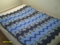 Crochet Ripple Throw - love the stripes!