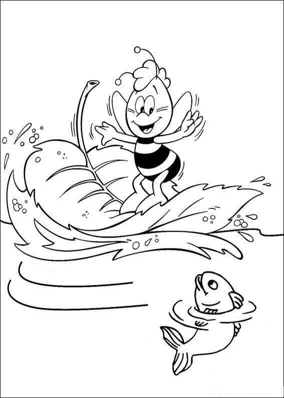 Maya Bee Tegninger til Farvelægning 28