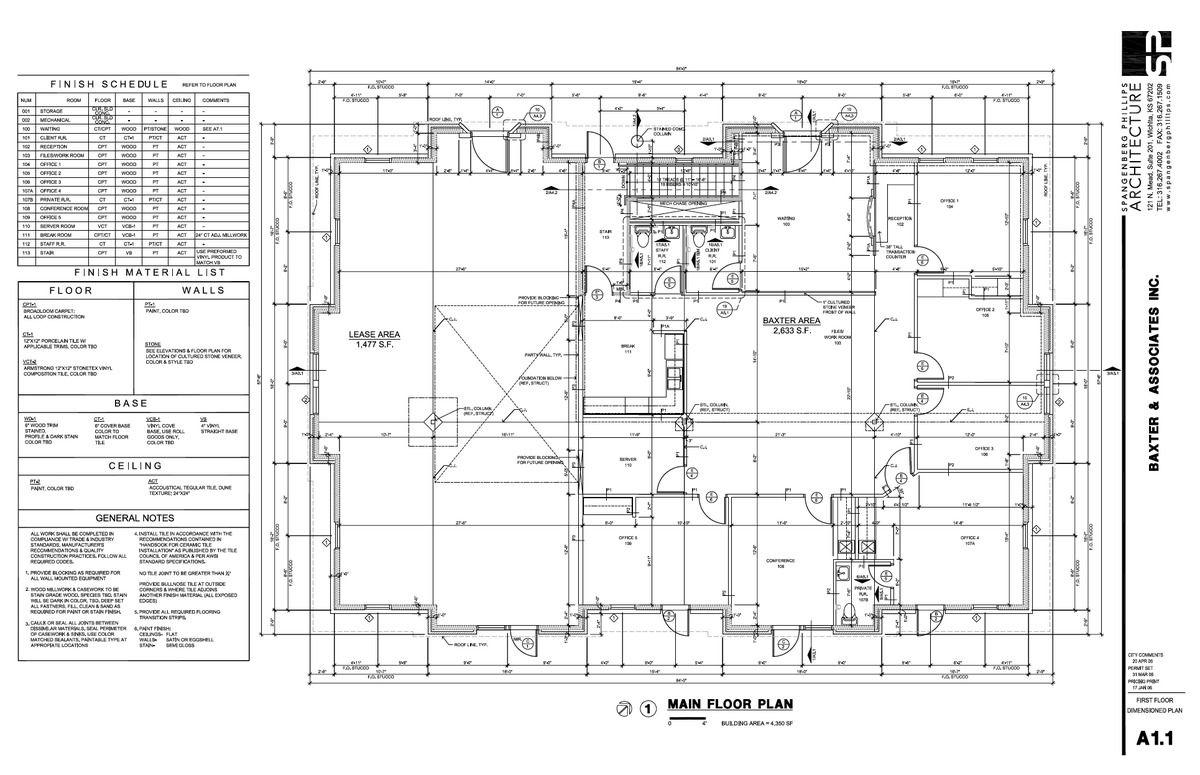 Lovely Finish Floor Plan Part - 4: Baxter Ground Floorplan, Notes, U0026 Finish Schedules
