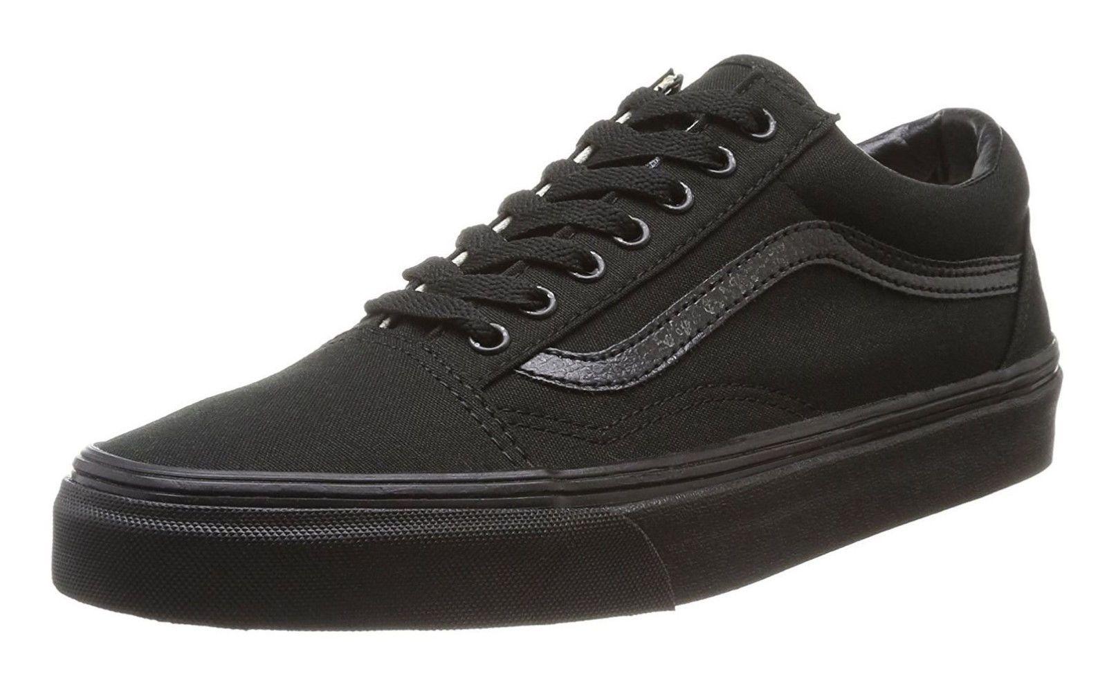 369d762ae72 Vans Old Skool Classic Black Black Womens Sneakers Tennis Shoes ...
