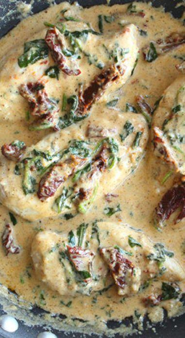 Creamy Tuscan Garlic Chicken #garlicchicken
