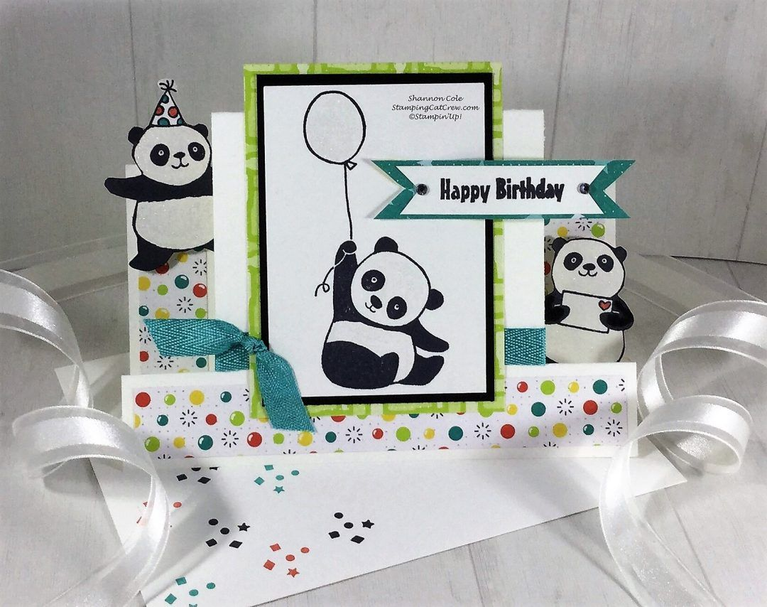 Stampin Up Party Pandas Step Card Sale A Bration 2018 Su 2018 Sab