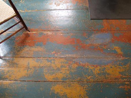 Painted Floor design snapshot: painted floor patina | colors, painted floors and