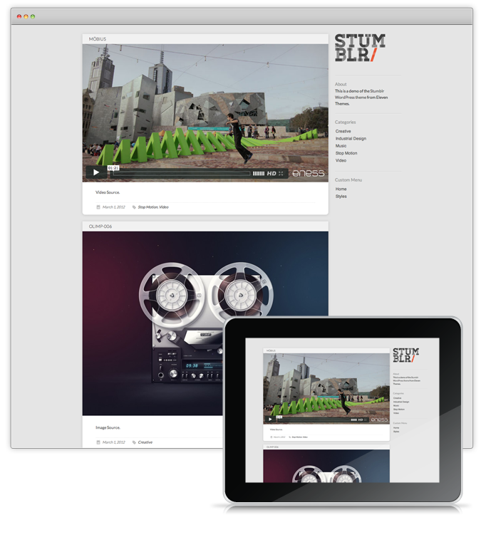 A free Tumblr style WordPress theme ideal for Microblogging photos ...