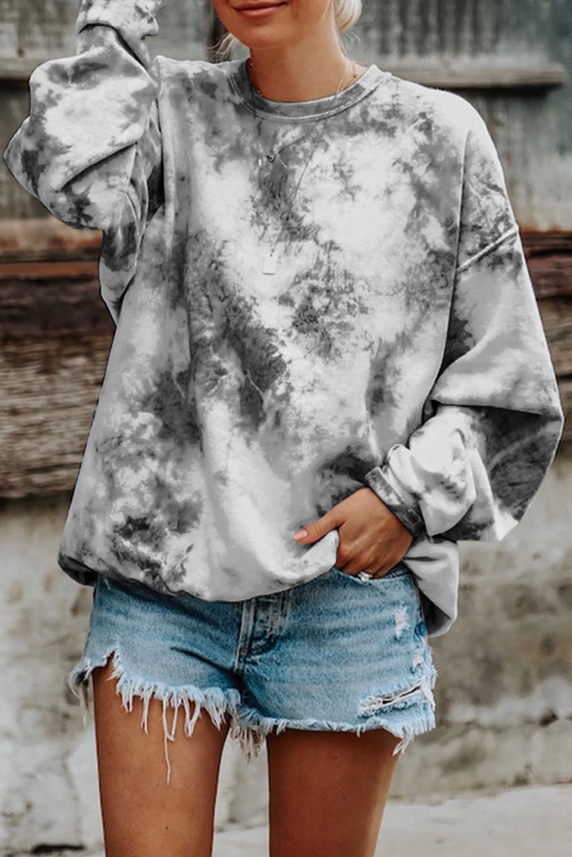 Gray tiedyed round neck sweatshirt dancecloth in 2020