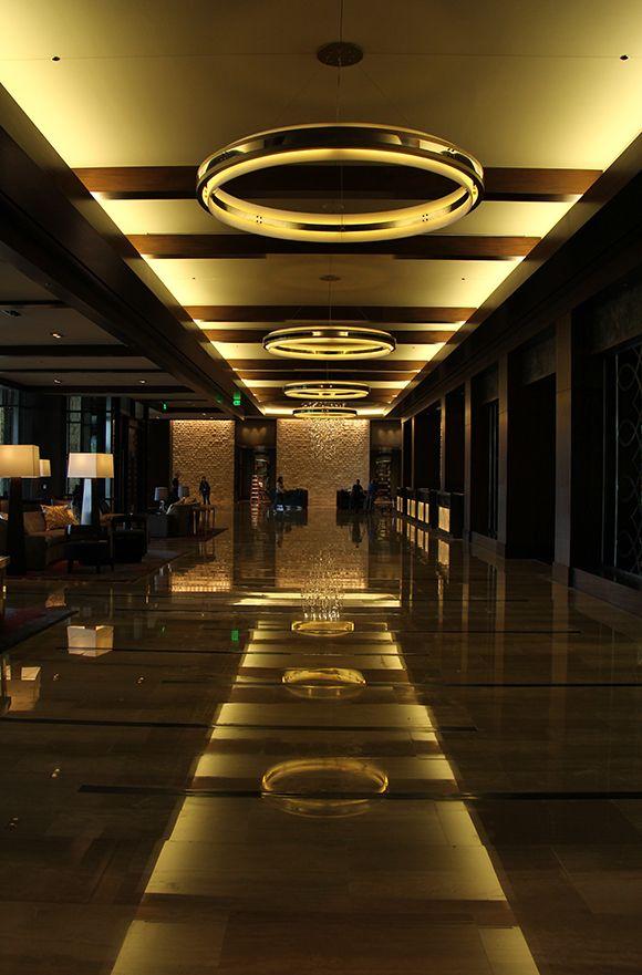 Lobby fretboard ceiling, Omni Nashville Hotel #Nashville #algertriton #lighting #MusicCity