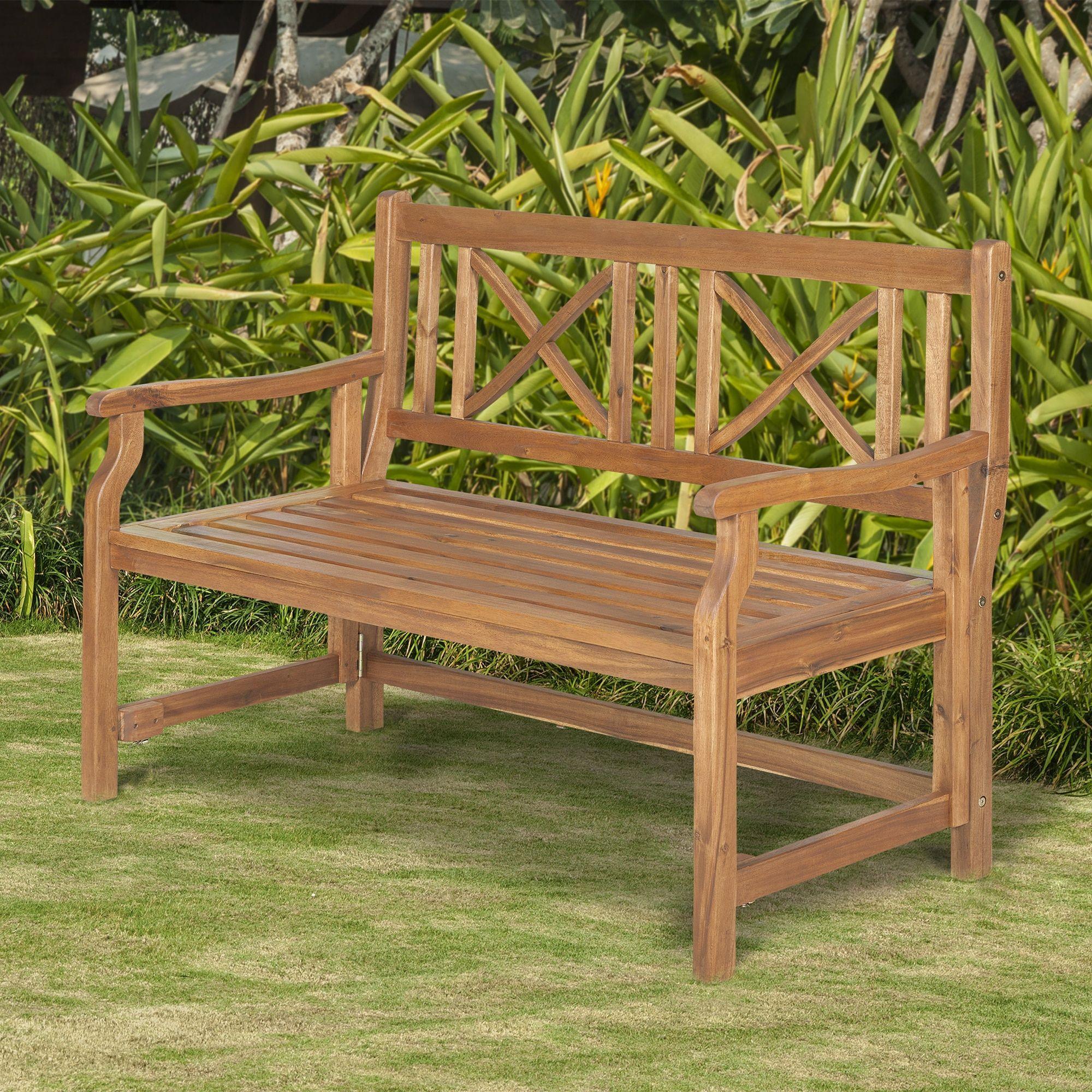 Superb Brown 48 Inch Acacia Wood Folding Garden Bench 48 Acacia Cjindustries Chair Design For Home Cjindustriesco