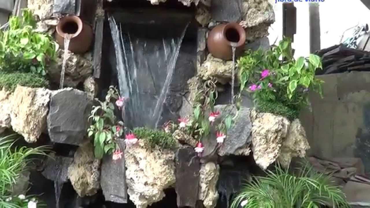 Cascadas artificiales jardin muro llor n piletas for Construccion de fuentes y cascadas