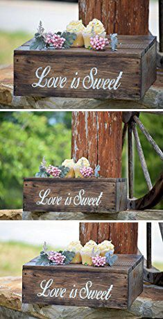 Rustic Cake Stand Love Is Sweet