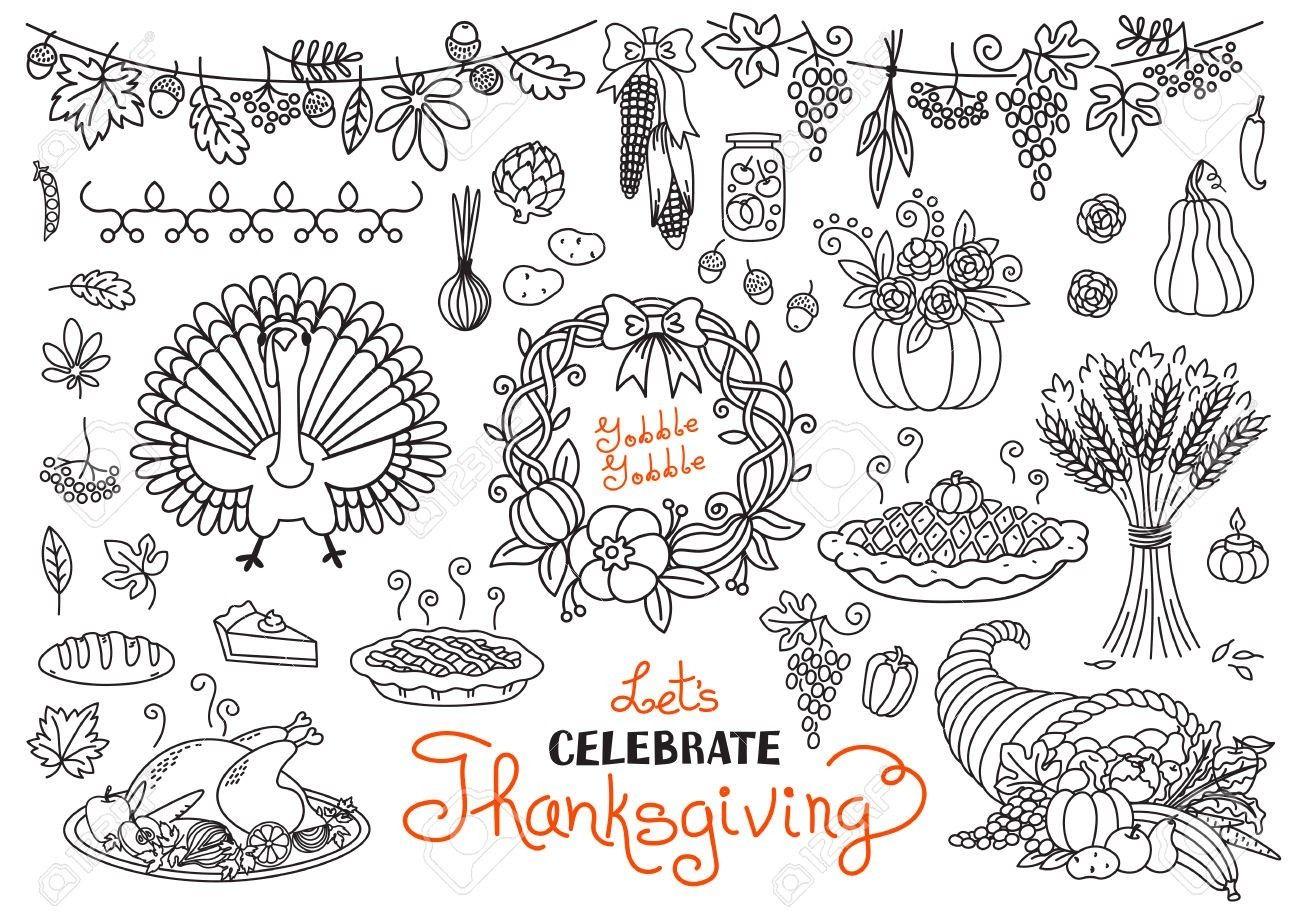 Thanksgiving doodles, bullet journals. | Thanksgiving ...