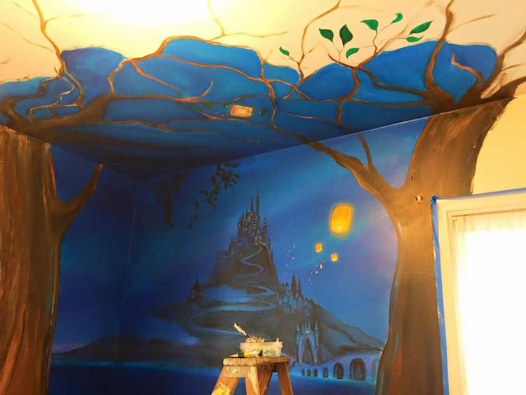 Best Loving Mom Transforms Daughter S Bedroom Into Magical 640 x 480