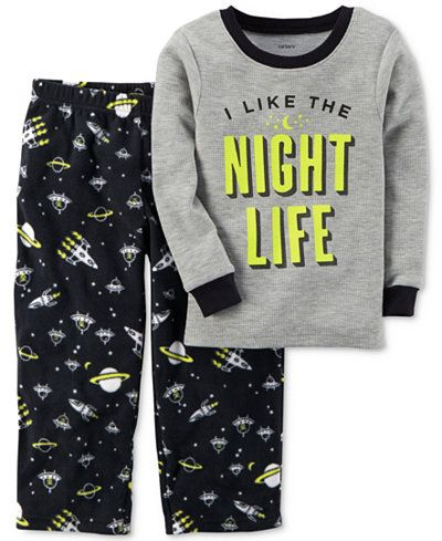 "Carter/'s /""Space Dude/"" Tee Spaceship Pants /& Solid Shorts Pajama PJ Set boys"