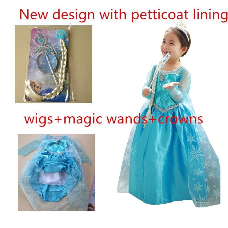 New #design with #petticoat and #lining #Elsa dress cosplay costume ...