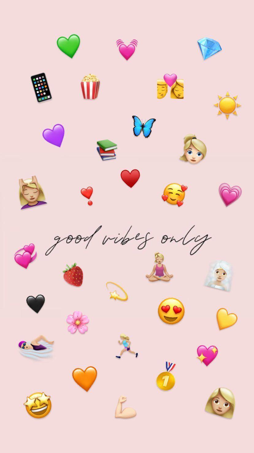 Buone Vibrazioni Only Emoji Wallpaper Iphone Emoji Wallpaper Wallpaper Iphone Cute