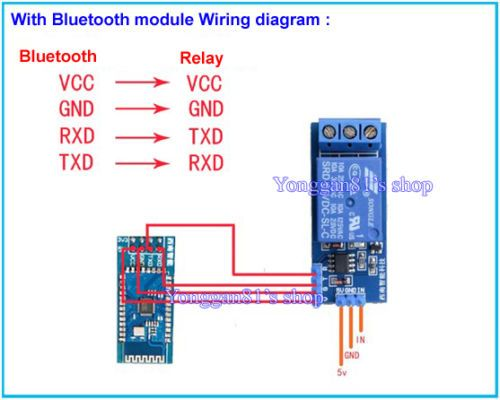5v relay module low level trigger stc scm serial signal bluetooth phone  control in business, office & industrial, electrical & test equipment,