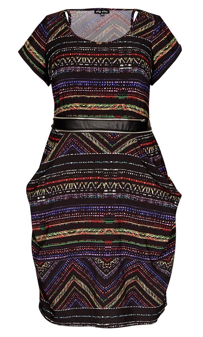 72d7beea224 City Chic - RAINBOW AZTEC TUNIC - so glad this was added to the sale ...