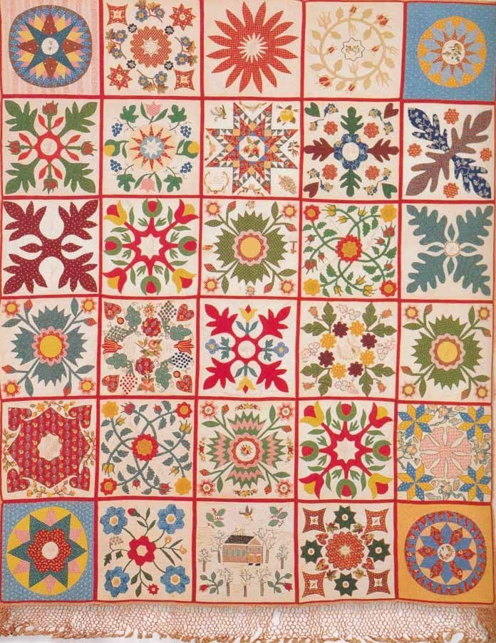 Quilt, 1852. Made by Ladies of Emmaus Church. New Kent Co, Virginia. Collection of the Valentine Richmond Museum.