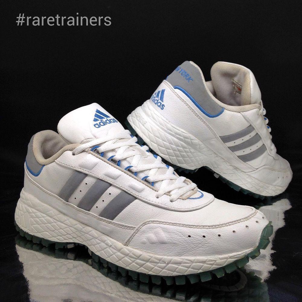 f609e230f adidas Mens PT Marathon Trainers White sz 6.5 NEW YORK CITY Sneakers ...  adidas