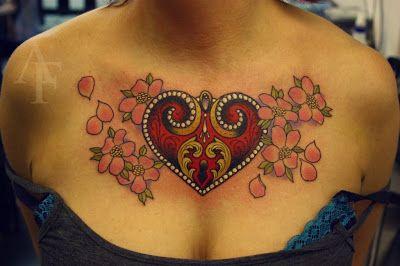 Tattoo Journey: Heart Locket and Key Tattoos
