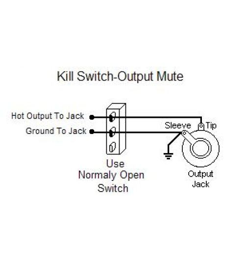 guitar kill switch output mute switch wiring this guitar wiring modification shows how to wire a normally open switch as a kill switch or output mute use this mod to do buckethead style telegraph