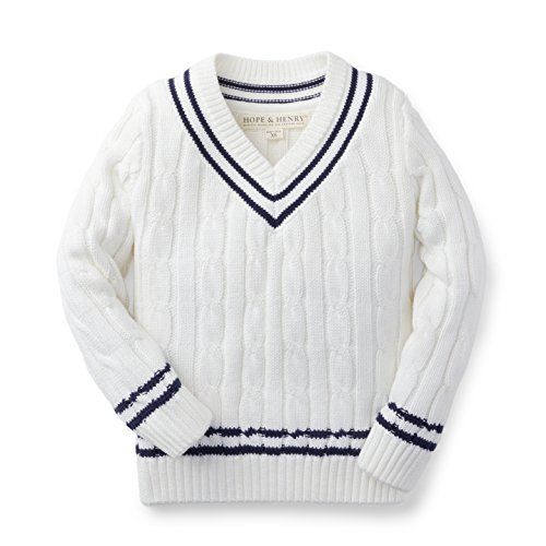 d1b9c7e59ade Hope   Henry Boys White Tennis Sweater Made With Organic Cotton ...