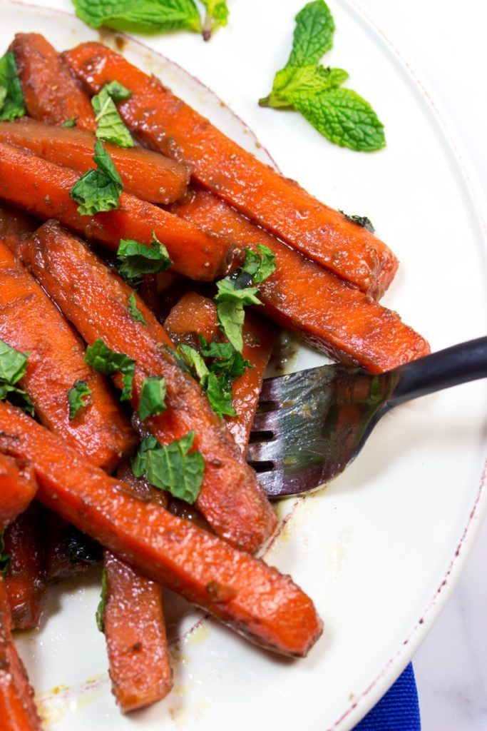 Have a look at Pomegranate, Balsamic, And Raw Honey Glazed Carrots. It ...