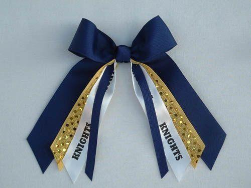 mascot custom small hair bow