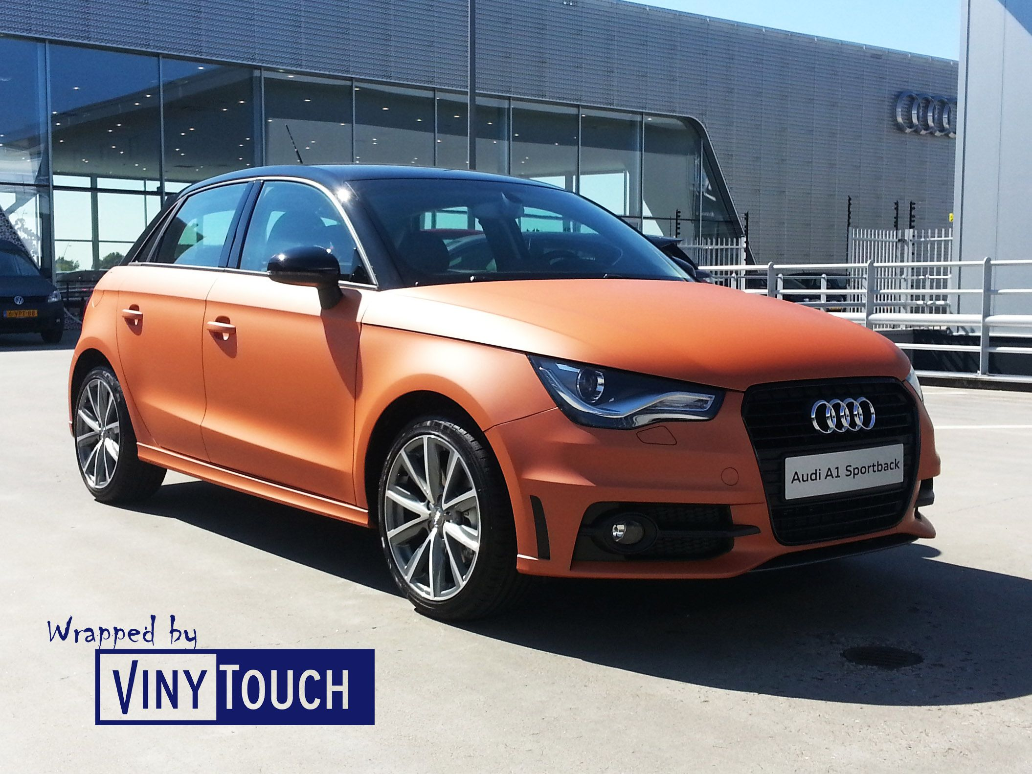 colour car metallic : Audi A1 Half Wrap Copper Matte Metallic Vinytouch