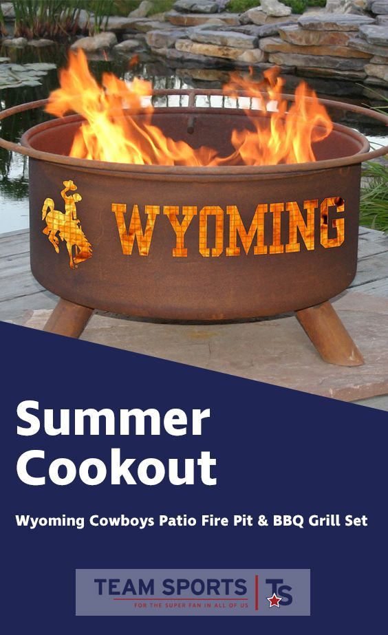 Wyoming Cowboys Portable Fire Pit Bbq Grill Set Fire Pit Bbq