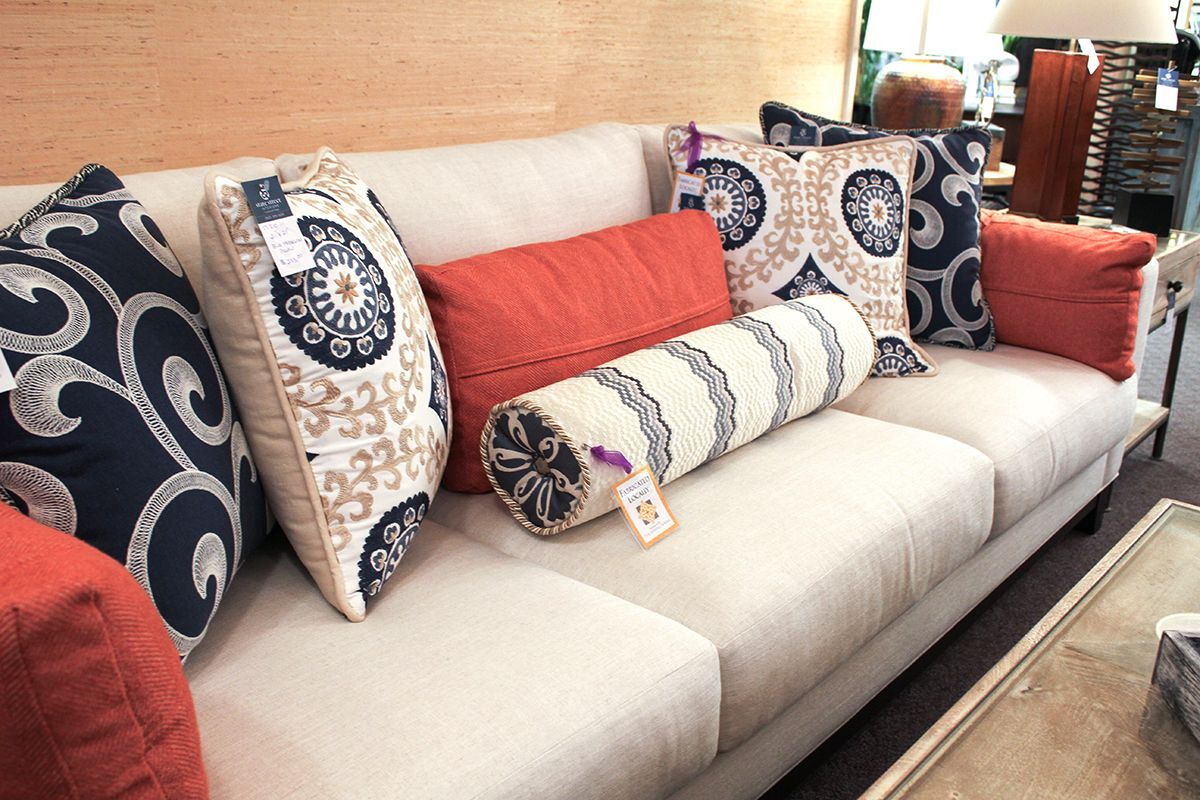 Custom Couch Pillows With Trendy 2018 Colors And Patterns Available At State Street Interiors In Bettendorf Iowa
