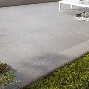 Carrelage sol taupe effet béton Houston l60 x L60 cm piscine - produit antiderapant pour carrelage exterieur