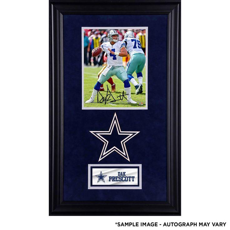 a2e9672d Dak Prescott Dallas Cowboys Fanatics Authentic Deluxe Framed ...