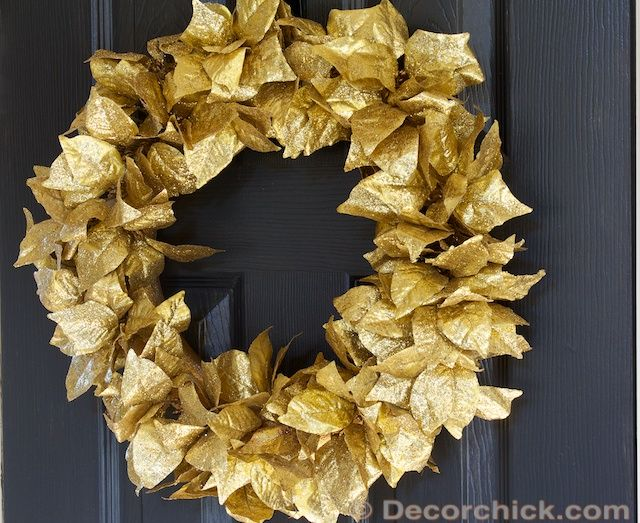 Leaves Wreath wwwdecorchick For the Love of CHRISTmas